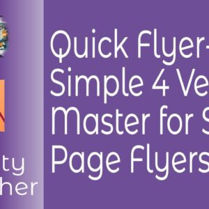 Quick Flyer Simple 4 Version Master Including Downloadable Files With Affinity Publisher
