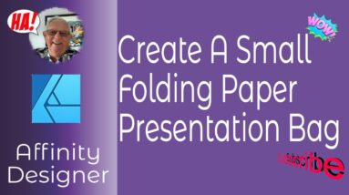 Create A Small Folding Paper Presentation Bag With Affinity Designer & Can Be Made At Home Or School