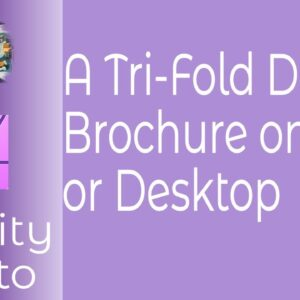 A Trifold Design Brochure For iPad or Desktop For Affinity Photo
