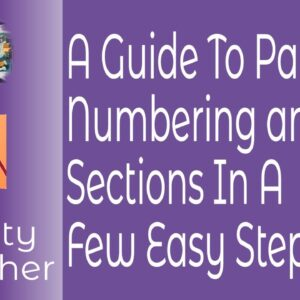 A Guide To Page Numbering and Sections in Affinity Publisher For Beginners or Intermediate Users