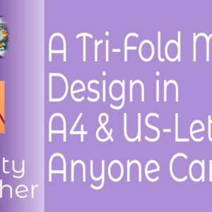 A Tri-Fold Menu Design in A4 & US-Letter Anyone Can Use - With Downloadable Masters