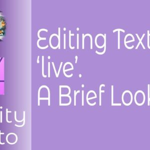 Editing Textures 'live' In Affinity Photo For iPad