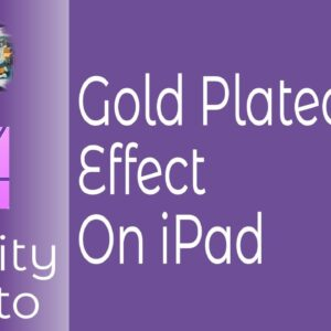 Gold Plated Text Effect In Affinity Photo On iPad