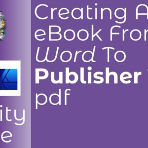 How To Create An eBook From Word To Publisher To a pdf. The Full Story