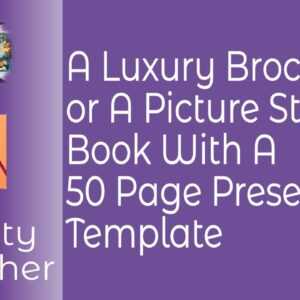 Luxury 50 Page Picture Story Book or Brochure with Preset & Template