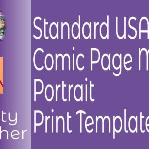 Standard USA Comic Page Master Portrait Print Template in Affinity Publisher for Traditional Comica