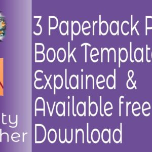 Three Paperback Print Book Templates in Affinity Publisher