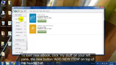 Using Nook for PC to Read EPUB eBooks