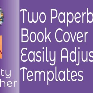 Two Paperback Book Cover Templates for Affinity Publisher In Two Sizes and Easily Adjustable