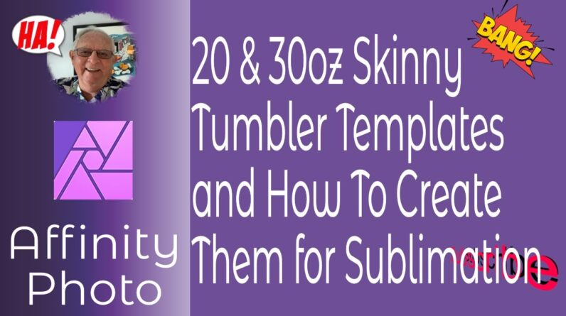 20oz and 30oz Tapered Skinny Tumblers or Any Size Tumbler and How to Make Them.