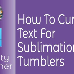 How To Curve Text For Sublimation Tumblers In Affinity Designer.