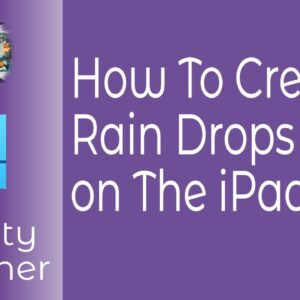 How To Create Rain Drops in Affinity Designer on The iPad to Use In Designs & Creative Works