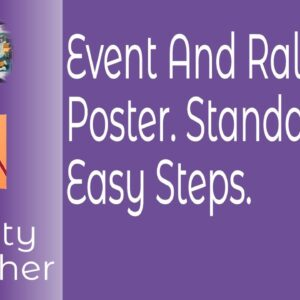 Event & Rally Poster Standard A3 In Affinity Publisher In Easy Beginner Modifiable Steps