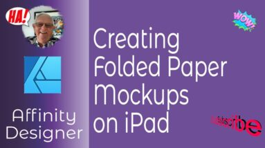 Creating Folded Paper Effects On The iPad with Affinity Designer for Textures, Mockups and More