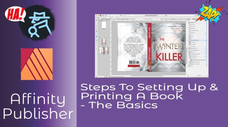 Steps To Setting Up & Printing A Book In Affinity Publisher   The Basics Including Downloadables