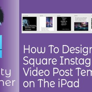 How To Design A Square Instagram Post Video Template In Affinity Designer for iPad and Desktop