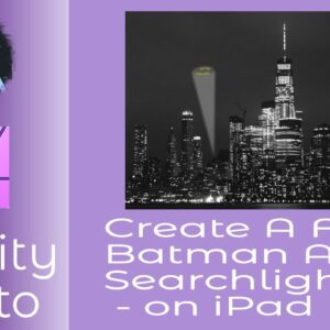 Create A Fun  Batman Alert Searchlight  - on iPad