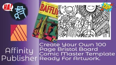 Create Your Own 100 Page Bristol Board Comic Master Template Ready For Artwork