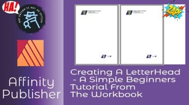 Creating A LetterHead   A Simple Beginners Tutorial in Affinity Publisher To Help Your Design