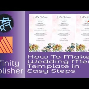 How To Make a Wedding Menu Template in Affinity Publisher As A Repeatable Master For Any Wedding