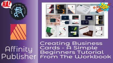 Creating Business Cards   A Simple Beginners Tutorial in Affinity Publisher