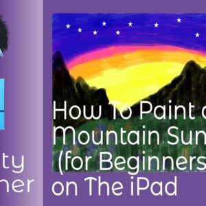 How To Paint a Mountain Sunset Using Affinity Designer for Beginners on iPad - So Easy and Fun Too