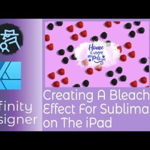 Designing A Bleach Splash Effect For Sublimation Designs in Affinity Designer for IPad In a Few...