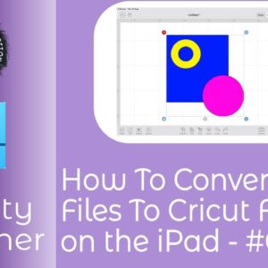 How To Convert SVG Files To Cricut Format on Affinity Designer for iPad