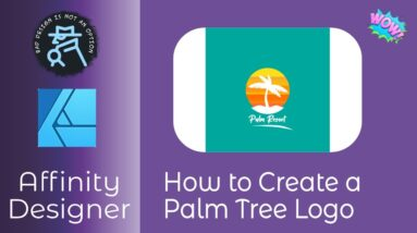 How to Create a Palm Tree Logo In Affinity Designer. Step By Step and easy to follow.