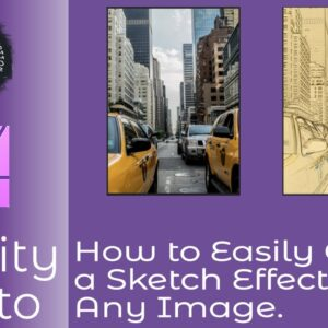 How to Easily Create a Sketch Effect in Affinity Photo From Any Image in Just A Few Steps.