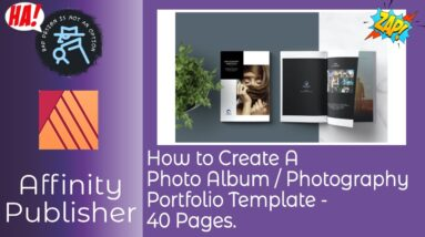 How to Create A Photo Album   Photography Portfolio Template   40 Pages in Affinity Publisher