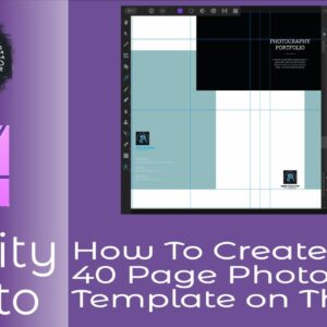 How to Create A 40 Page Photo Portfolio Book Template On The iPad, A Short Tutorial To Get Started.