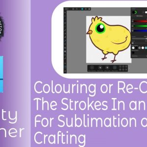 Colouring or Re-Colouring The Strokes in An Affinity Designer Image